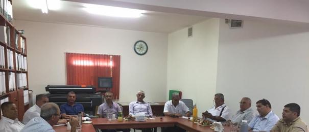 اجتماع في المركز العربي للتخطيط البديل بهدف تقديم طلب لتقسيم عائدات الارنونا من المنطقة الصناعية تسيبوريت