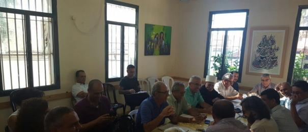 في الورشة التي اجراها مركز مساواة والمركز العربي للتخطيط البديل بالتعاون مع اللجنة القطرية: